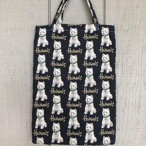 Harrods doggie tote shopping bag
